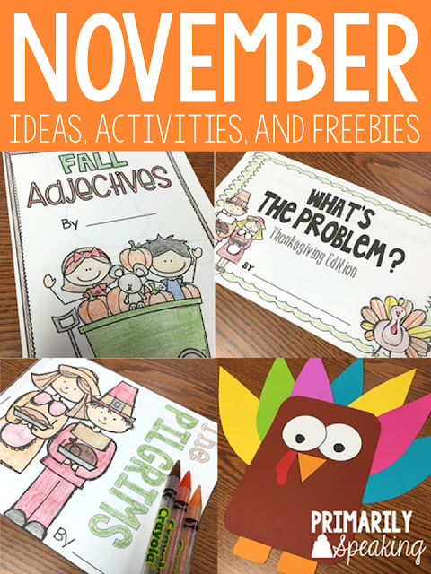 Teaching Ideas for the Month of November