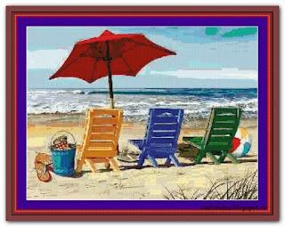 """Beach Chairs"" Witchykitt Designs"