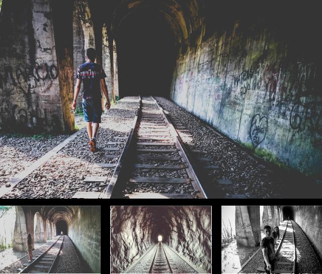 Fotos dos túneis da Ferrovia do Trigo