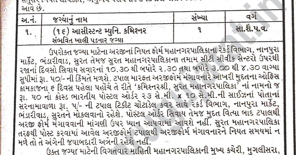 Surat Municipal Corporation Smc Recruitment For
