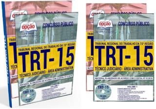 apostila Concurso TRT da 15ª Região 2018 TÉCNICO JUDICIÁRIO - ÁREA ADMINISTRATIVA
