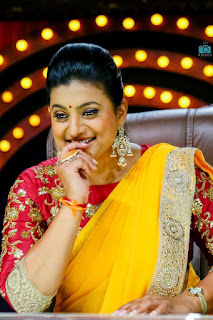 Tamil Golden Actress Roja Glams Saree Pics