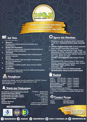 Lomba Karya Tulis Ilmiah Nasional Innovation Contest 2017