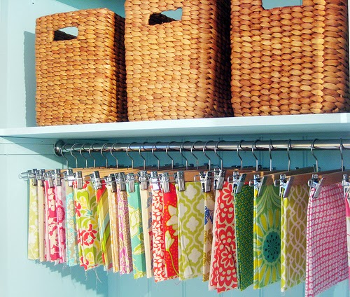 Hang fabric using pant hangers
