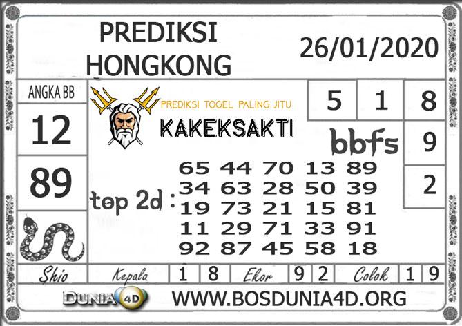 Prediksi Togel HONGKONG DUNIA4D 26 JANUARI 2020