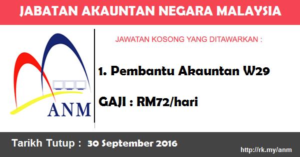 Jawatan Kosong di Jabatan Akauntan Negara Malaysia