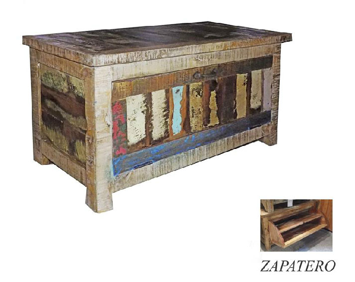 La web de la decoracion y el mueble en la red baules para decoraciones rusticas - Baul zapatero ...