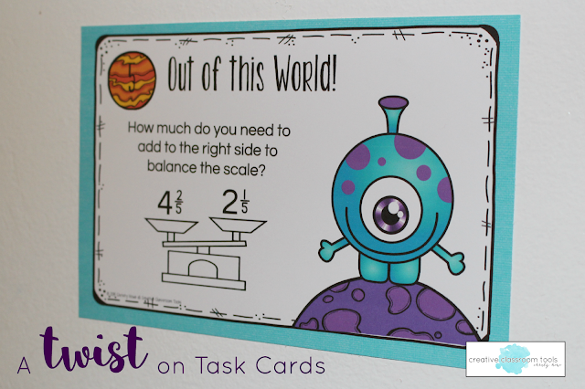 adding and subtracting fractions different ways to use task cards in the classroom