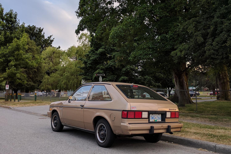 Old Parked Cars Vancouver: hatchback
