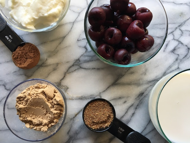 IMG 2164 - Protein Chocolate Cherry Smoothie