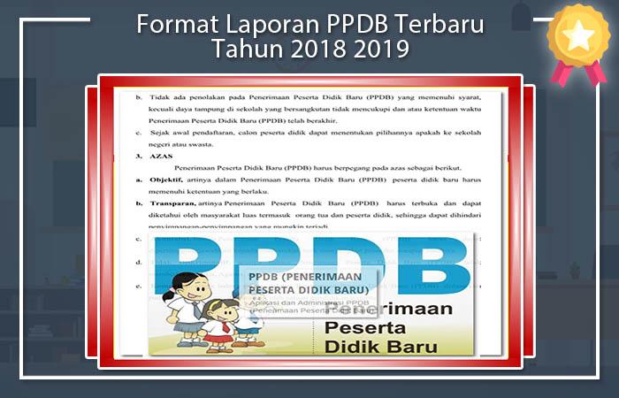 Format Laporan PPDB Terbaru Tahun 2018 2019