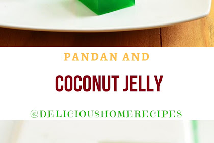 Pandan And Coconut Jelly #christmas #jelly