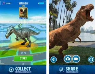Jurassic World Alive Joystick button Apk Mod Free for Android
