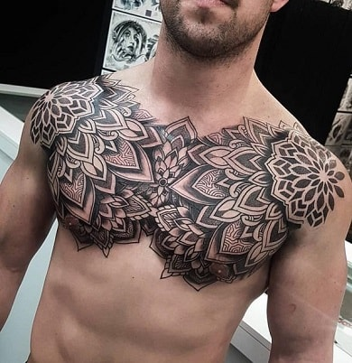 celtic chest tattoos