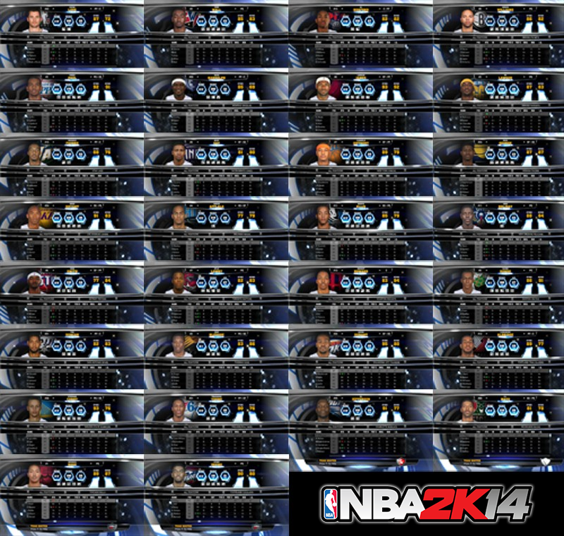 NBA 2K14 Roster Without Injured Players
