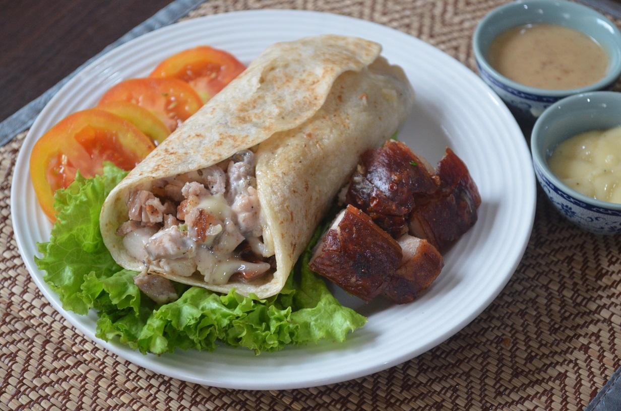 shawarma with lechon - lechonarma porky pit
