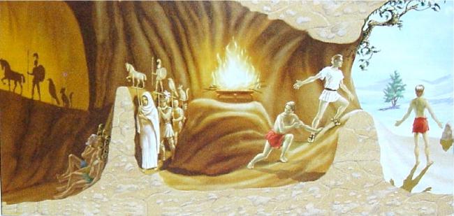 ¿Conoces la caverna de Platón?
