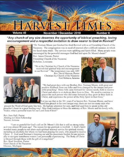 Harvest Times, Volume 40 Number 6, November-December 2018