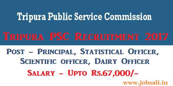 TPSC Notification 2017, Govt jobs in Tripura 2017, TPSC Vacancy