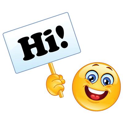 Hi emoji