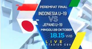 Susunan Pemain Indonesia vs Jepang - Perempat Final Piala AFC U-19