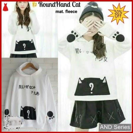 AND156 Sweater Wanita Roundhand Cat Murah BMGShop