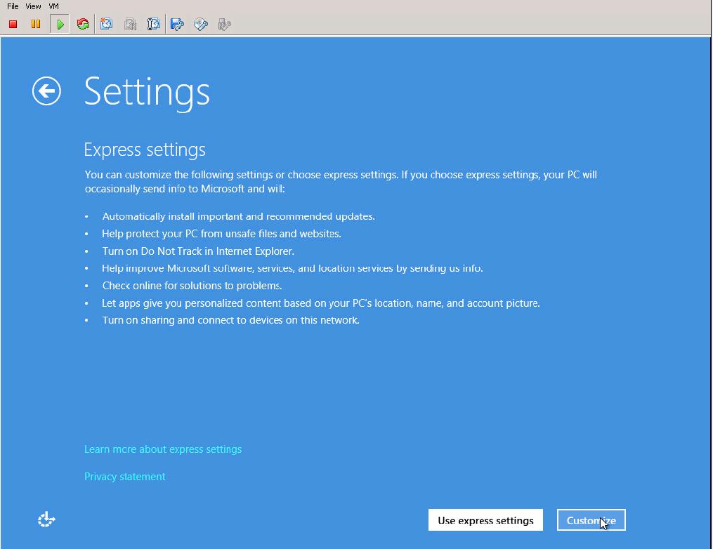 Installing Windows 8 on VMware ESXi 5 1