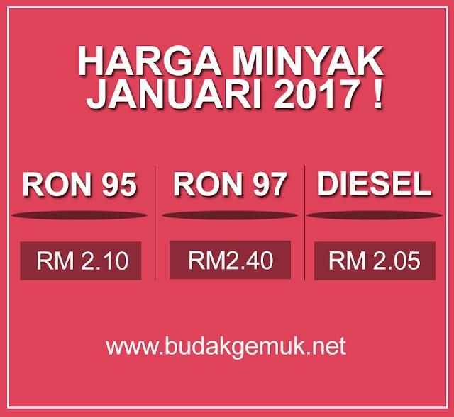 HARGA MINYAK JANUARI 2017 !