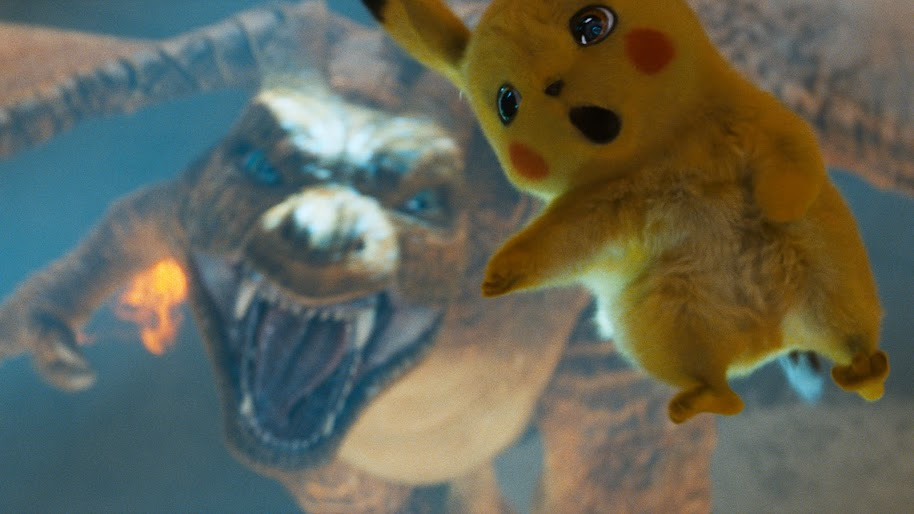 Charizard Vs Detective Pikachu 4k Wallpaper 9