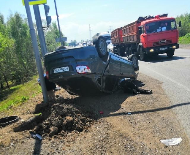 Момент аварии на трассе Уфа-Оренбург попал на видео