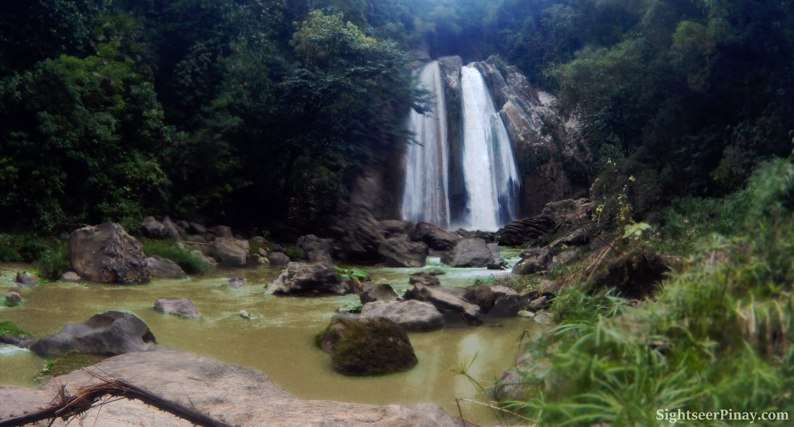 Dodiongan Falls: view after the rain, Iligan City