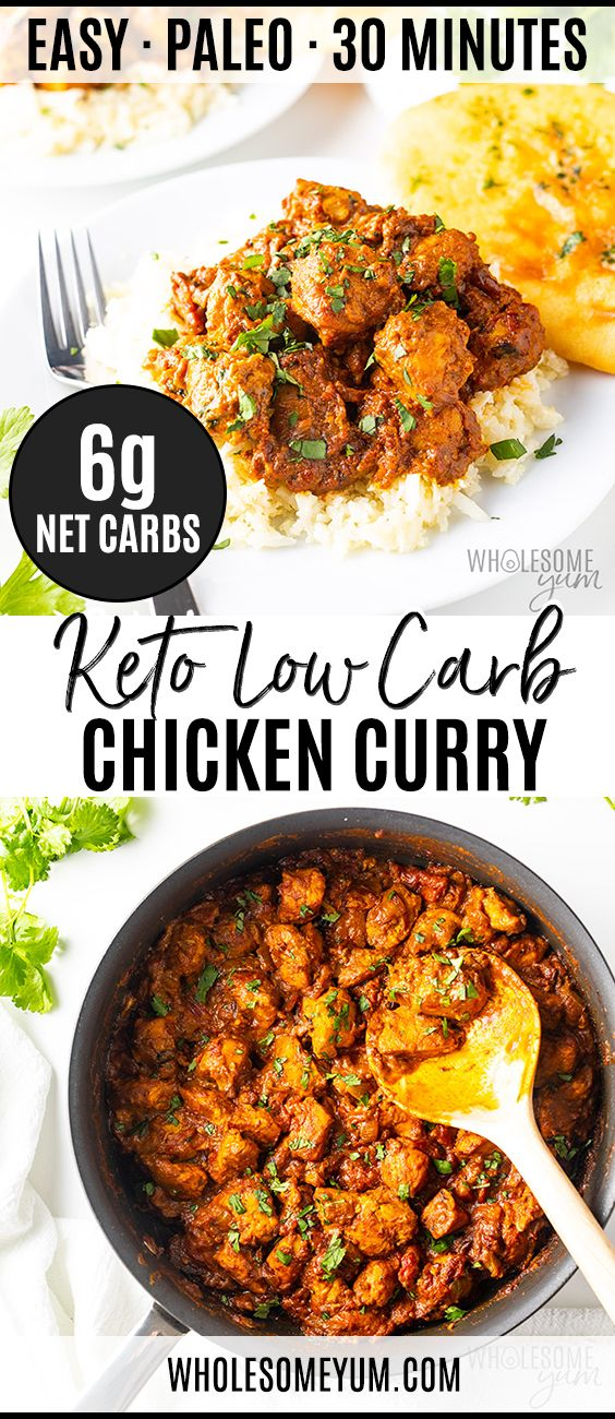 COCONUT CURRY CHICKEN: A KETO LOW CARB CURRY RECIPE