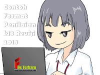 Download Contoh Format Penilaian k13 Revisi 2018
