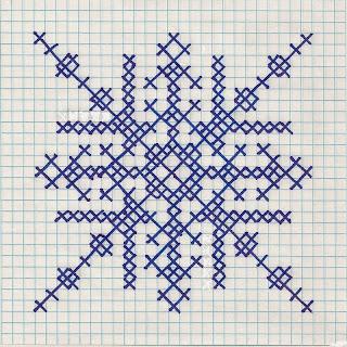 Downloadable cross-stitch snowflake pattern