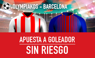 sportium promocion Olympiakos vs Barcelona 31 octubre