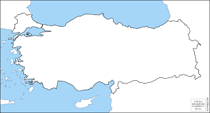 Turkey Blank Map