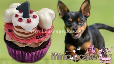 mini cupcake personalizado fondant tarta perro can perrito pincher chihuahua laia's cupcakes puerto sagunto