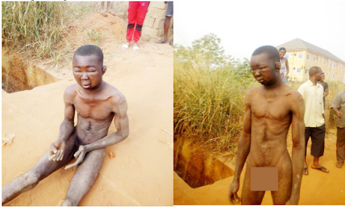 Young man who steal female pants in anambra