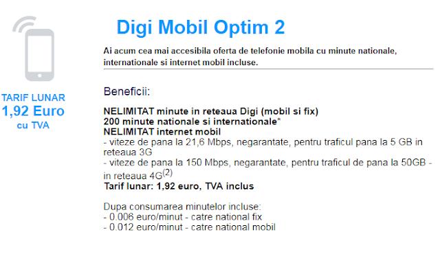 cel mai ieftin abonament de telefonie mobila
