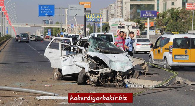Diyarbakır-Şanlıurfa Karayolunda trafik kazası: 1 ağır yaralı