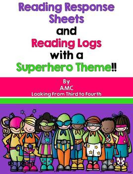 https://www.teacherspayteachers.com/Product/Reading-Response-Activities-and-Reading-Logs-with-a-Superhero-Theme-904072