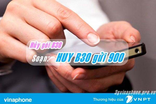 Cách hủy nhanh gói cước B30 Vinaphone không tốn phí