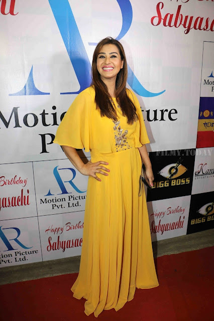 Shilpa Shinde Photo In Yellow Dress At Sabyasachi Satpathy Birthday Bash
