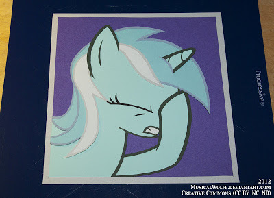 Construction Paper - Lyra Facehoof by MusicalWolfe, Dec 2012. CC by-nc-nd 3.0
