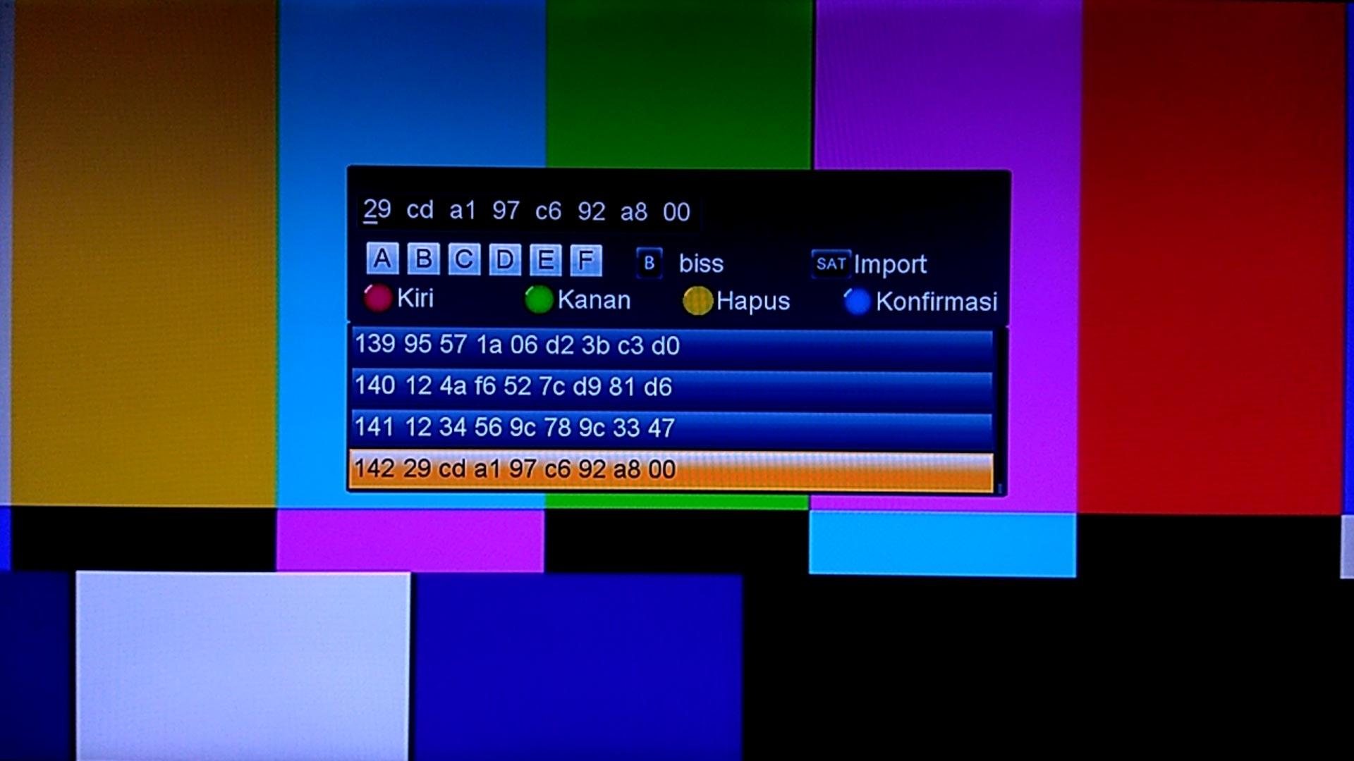 Cara Memasukkan Kode Biss Key Receiver Goldsat Revo HD