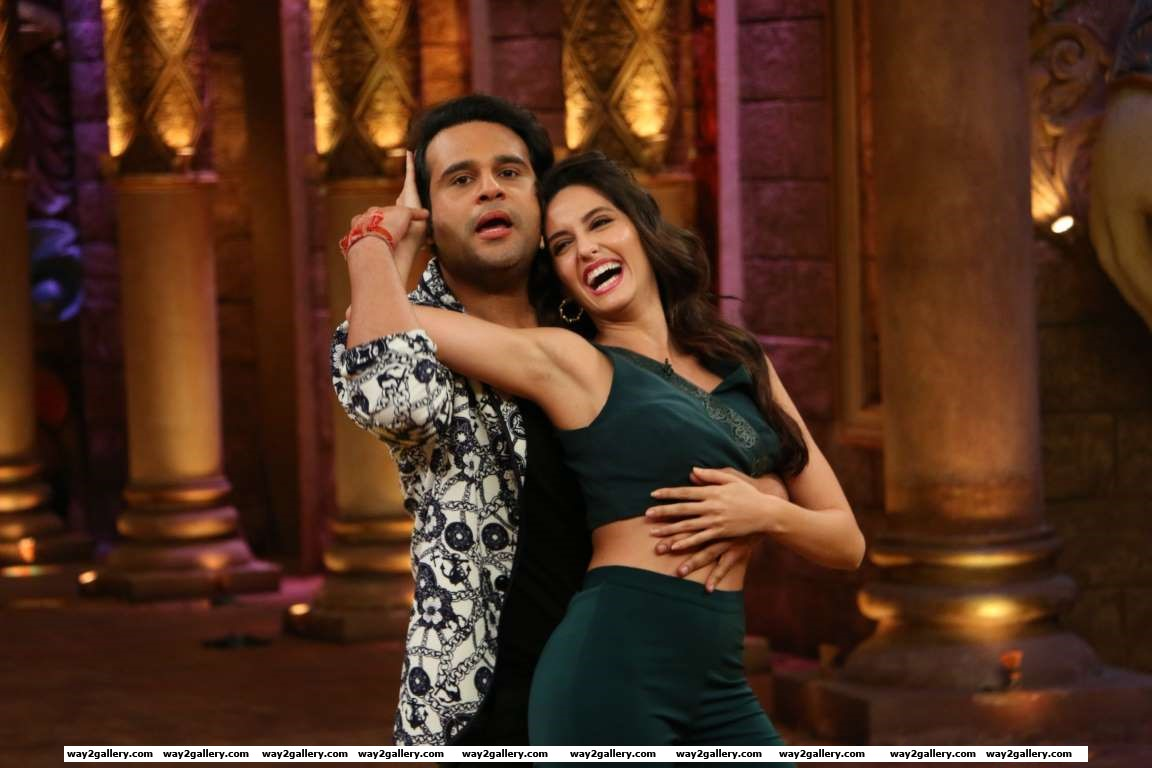 Nora Fatehi visited the sets of Comedy Nights Bachao
