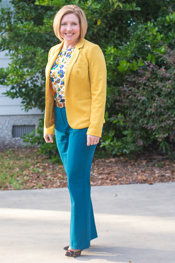 Teal and mustard