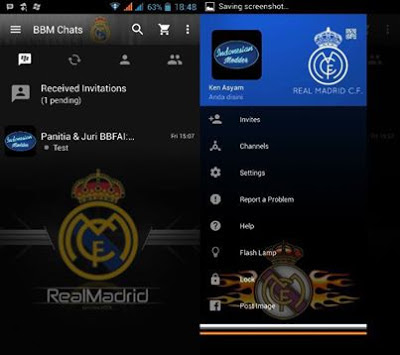 Download BBM Mod Background Klub Real Madrid 3.3.2.31 Update 2017 Terbaru