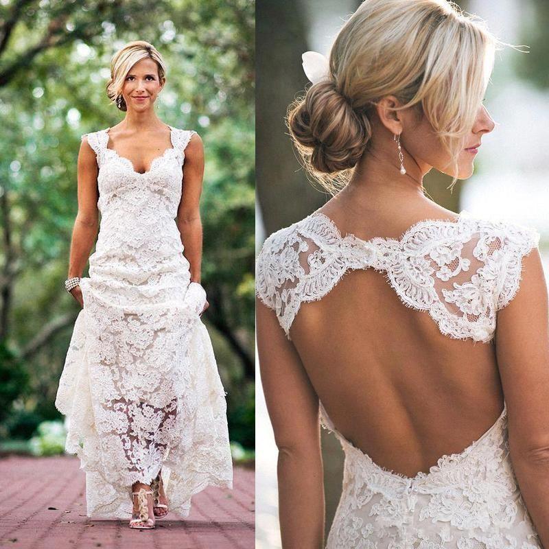 Moda de vestidos para boda en la playa
