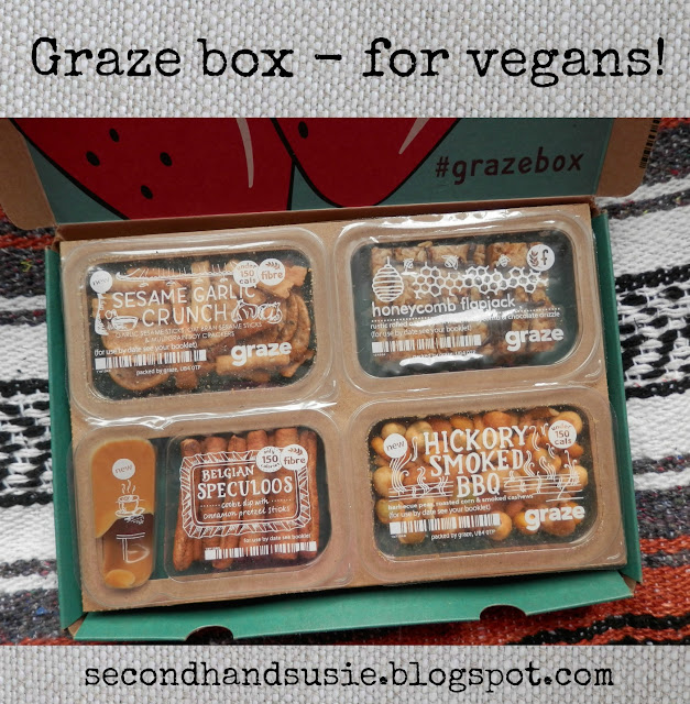 Graze box, for vegans. secondhandsusie.blogspot.com #graze #grazebox #vegan #vegangraze